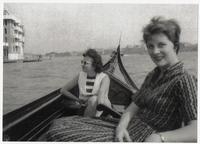 Two nursing students on a gondola ride