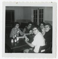 Group of students playing cards