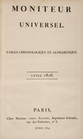 Le Moniteur universel: Tables chronologique et alphabetique