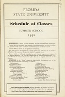 Florida State University Schedule of Classes - Summer School