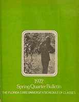1972 Spring Quarter Bulletin: Florida State University /Schedule of Classes