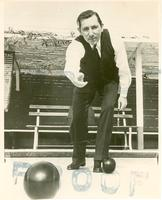 Claude Pepper playing bocce