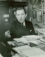 Claude Pepper gesturing in his congressional office