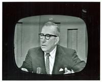 Claude Pepper appearing on television in connection with Cuba Hearings