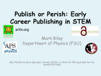 Publish or Perish: Early Career Publishing in STEM