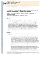 Development of oral reading fluency in children with speech or language impairments