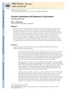 Dynamic assessment and response to intervention