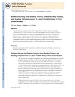 Relations Among Oral Reading Fluency, Silent Reading Fluency, and Reading Comprehension