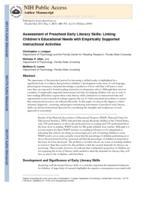 Assessment of Preschool Early Literacy Skills