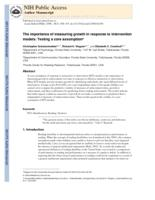 importance of measuring growth in response to intervention models
