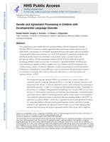 Gender and agreement processing in children with developmental language disorder.
