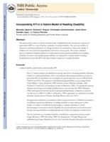 Incorporating RTI in a Hybrid Model of Reading Disability.