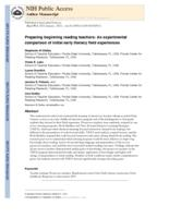 Preparing beginning reading teachers