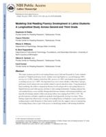 Modeling Oral Reading Fluency Development in Latino Students