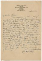 Letter to Mrs. Eppes from Margaret Wootten Collier