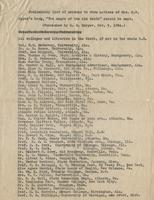 "Preliminary List of Persons to Whom Notices of Mrs. N. W. Eppes's Book, ""The Negro of the Old South"" Should be Sent."