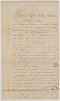 Land deed from January 12, 1860