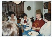 Women from Class of 1957 Talk Around a Table