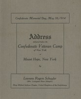 Address delivered before the Confederate Veteran Camp at Mount Hope, New York
