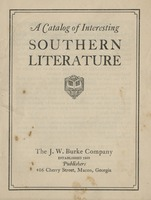 A catalog of Interesting Southern Literature