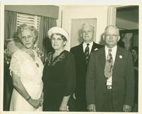 Thomas and Irene Webster with guests