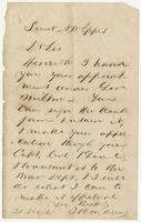 Note addressed to Susan N.W. Eppes