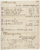 E. Bradford Esq. In Account with Smallwood, Hodgkiss & Co.