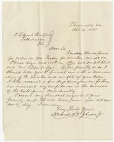Letter to Dr. Edward Bradford from Thomasville, Ga