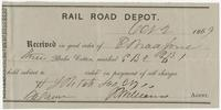 Railroad receipt for cotton for E. Bradford