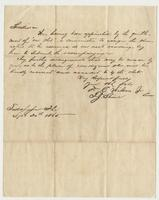 Letter from Tallahassee, Sept. 20th 1865