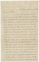 "Letter to ""My dear Nick"" from F. Eppes"