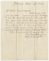 Letter to Wallier, Evans, & Cogswell from Edward Bradford that originally contained an owed dollar