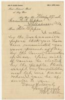 Letter addressed to N. W. Eppes from President of the First National Bank of Key West, Geo. W. Allen