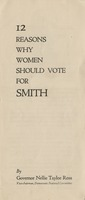 12 Reasons Why Women Should Vote for Smith