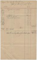 1890 receipt for Mrs. Bradford with a $9.36 balance due