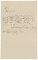 1891 receipt for Mrs. M.L.H. Bradford for $94.25 in store account