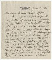 Letter addressed to Bessie Eppes from her cousin Randolph