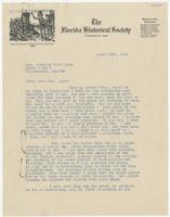 Collection of letters to Mrs. Eppes from The Florida Historical Society, The J.W. Burke Company, J.C. Yonge