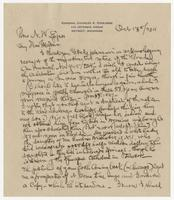 Letter to Mrs. Eppes from Charles A. Coolidge