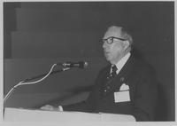 Claude Pepper addressing Inter-Parliamentary Union Conference