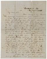Letter to Edward Bradford from William H. Branch