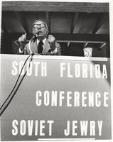 Claude Pepper delivering speech at the South Florida Conference on Soviet Jewry