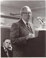 Claude Pepper addressing a group on crime insurance