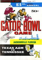 1957 Gator Bowl: Texas A&M vs Tennessee (12/28/57)