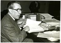 Claude Pepper talking during a Senate Labor Committee session