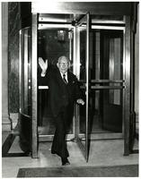 Claude Pepper exiting the Capitol Building