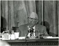Claude Pepper at congressional hearing on breast cancer