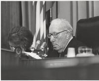 Claude Pepper at a hearing