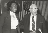 Claude Pepper and fellow presenter at the Distinguished Service Awards ceremony