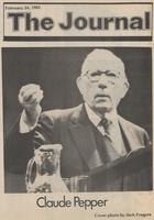 Claude Pepper gesturing during a speech